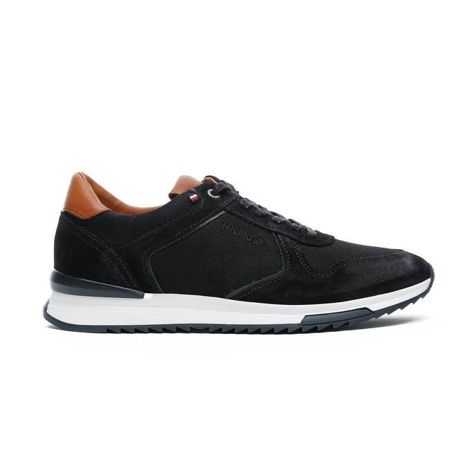 Tommy Hilfiger Runner Craft Mix Erkek Siyah Spor Ayakkabı