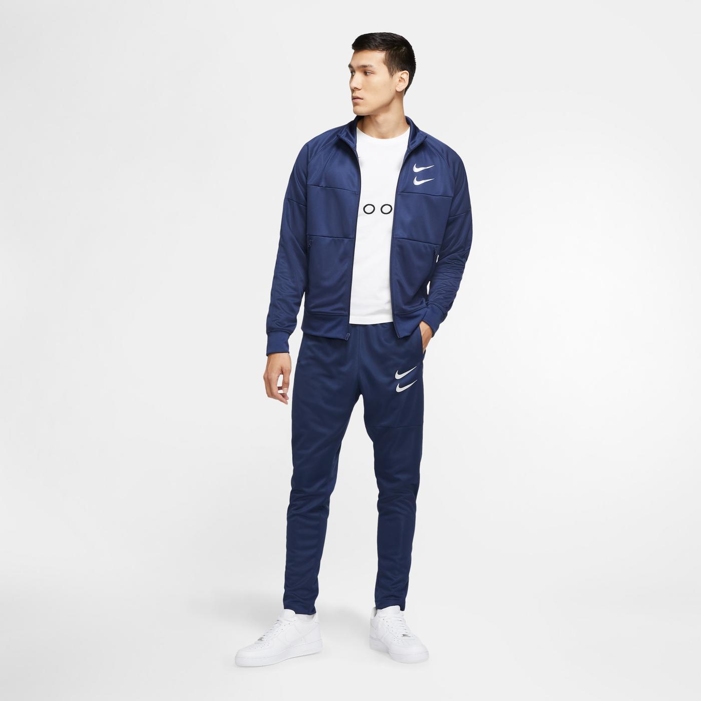 Nike Sportswear Swoosh Lacivert Eşofman Altı