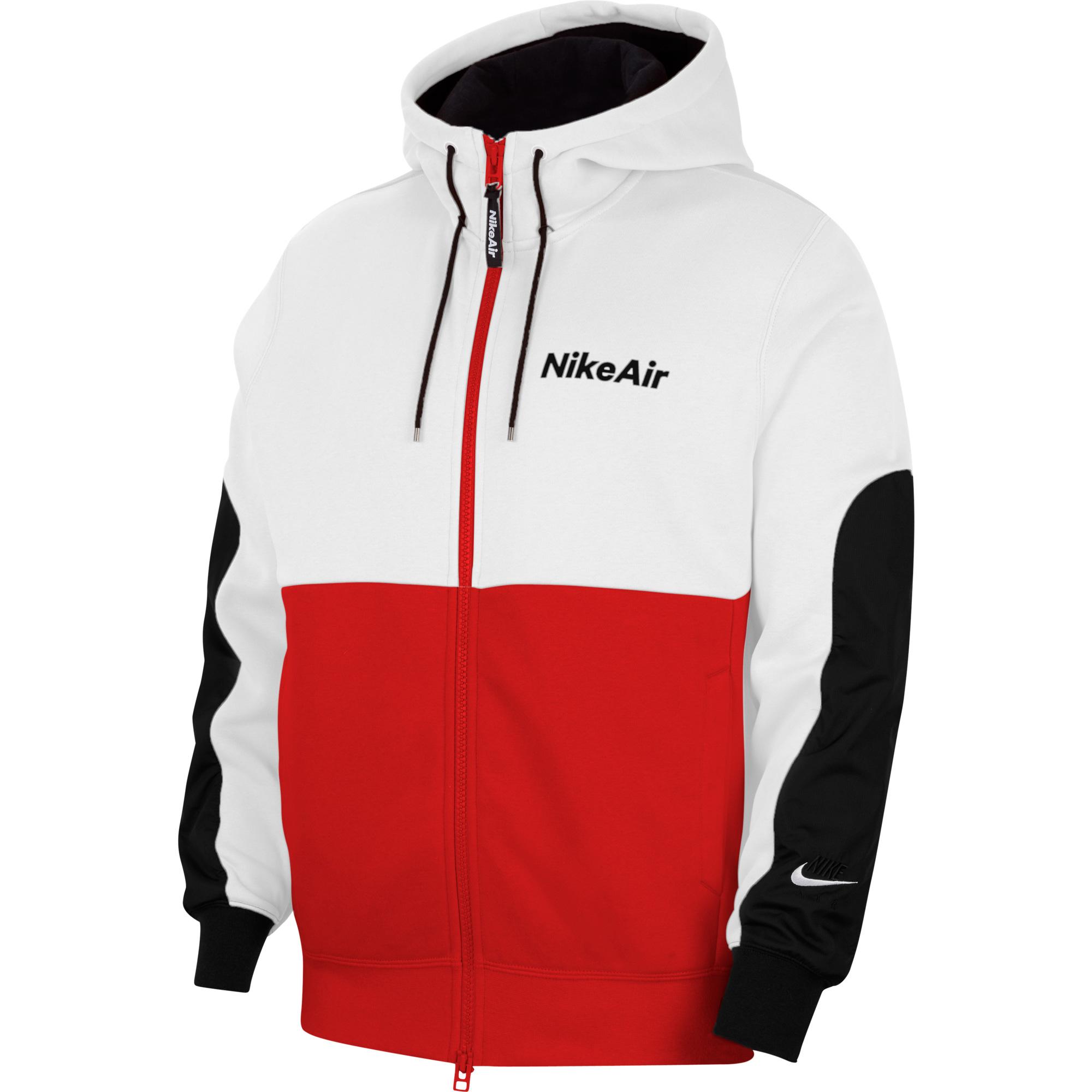 Nike Air Erkek Beyaz-Kırmızı Sweatshirt