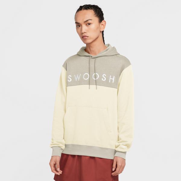 Nike Sportswear Swoosh Erkek Krem Sweatshirt