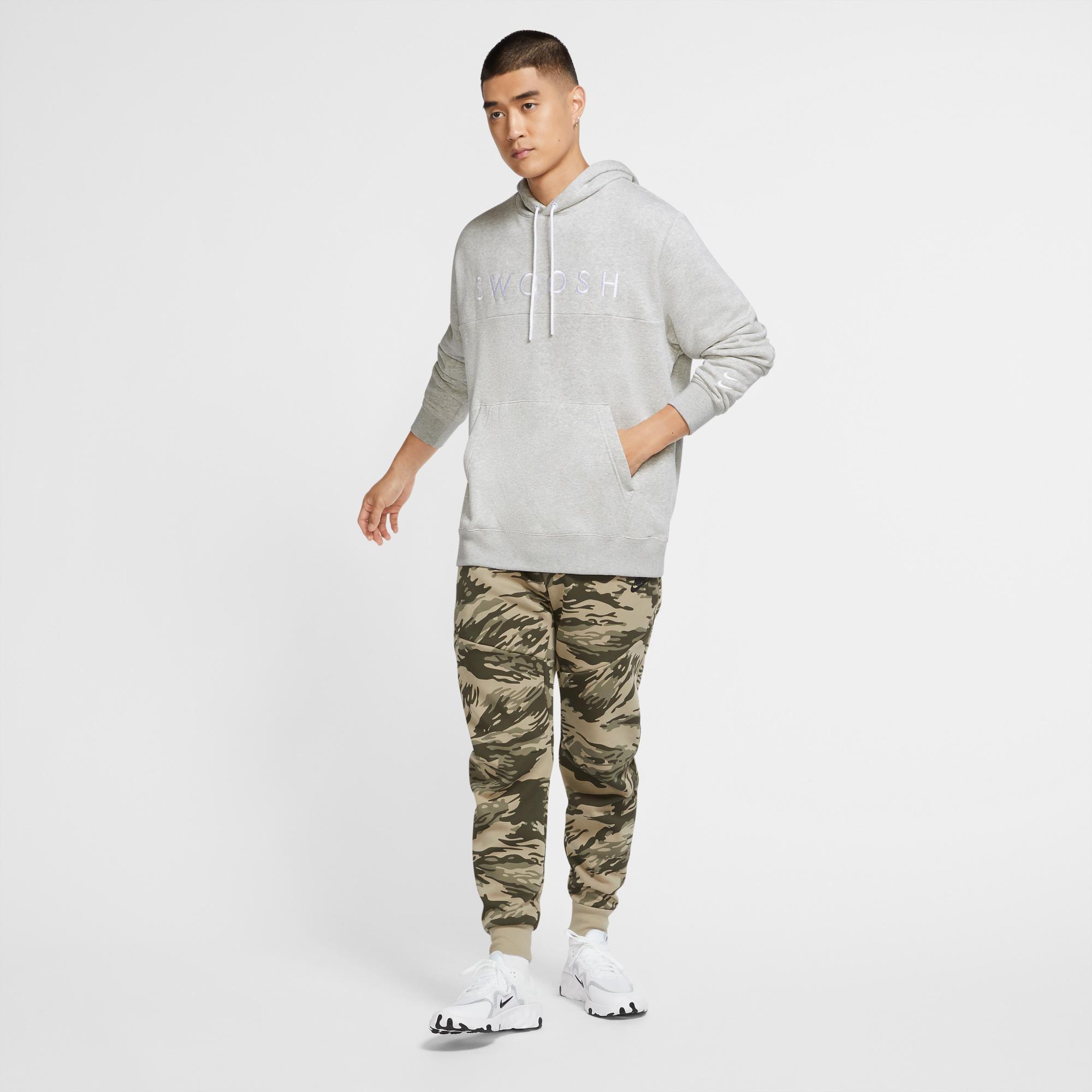 Nike Sportswear Swoosh Erkek Gri Sweatshirt