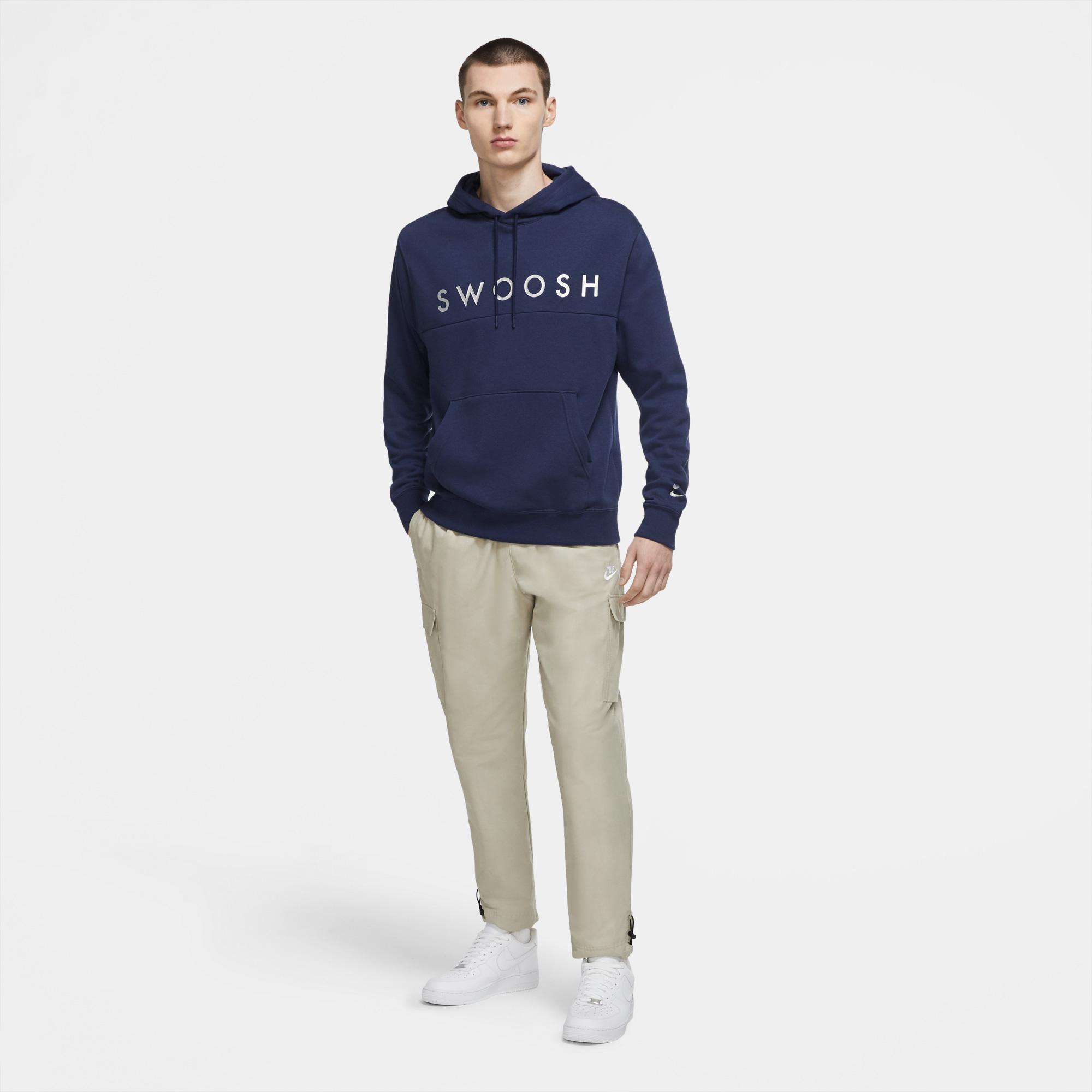 Nike Sportswear Swoosh Erkek Lacivert Sweatshirt