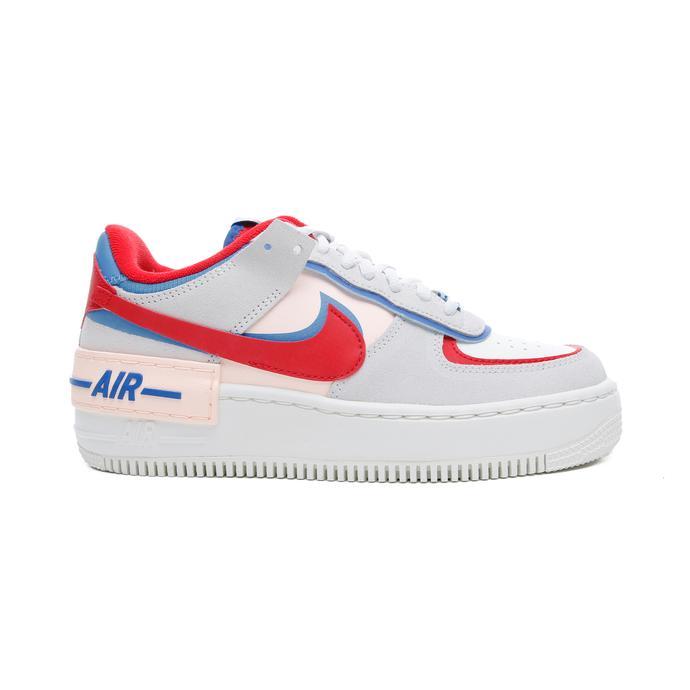 Nike Air Force 1 Shadow Kadın Bej-Kırmızı Spor Ayakkabı