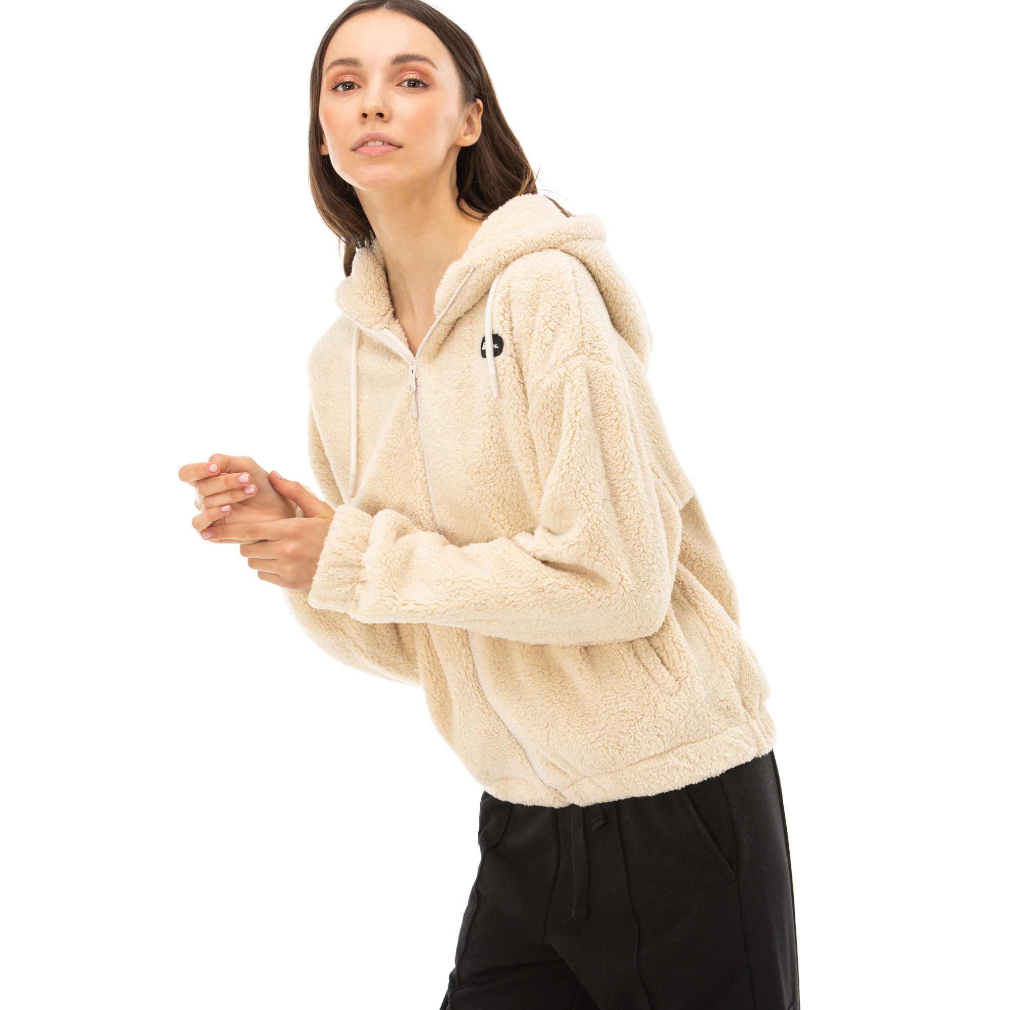 Skechers Sherpa Kadın Kahverengi Sweatshirt