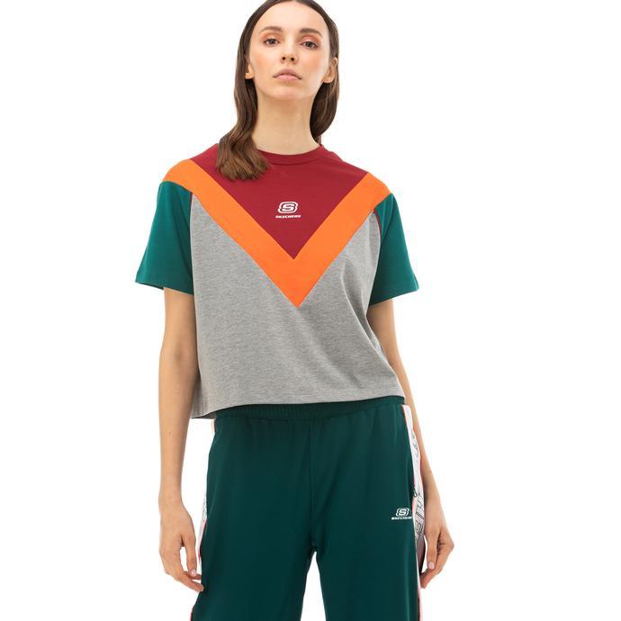 Skechers High Vibes 2 Kadın Gri T-Shirt