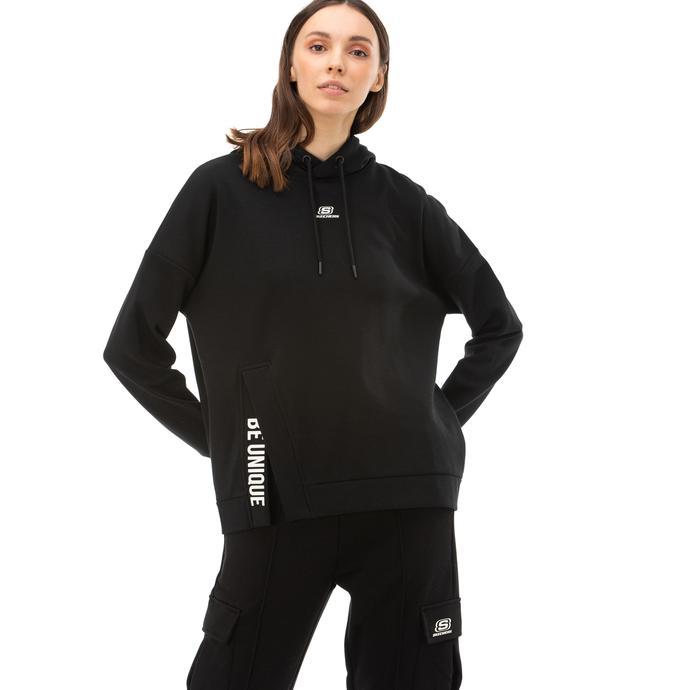 Skechers 2X I-Lock Kadın Siyah Sweatshirt