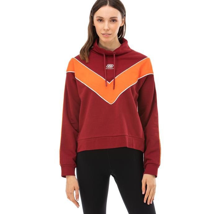 Skechers High Vibes 2 Kadın Kırmızı Sweatshirt