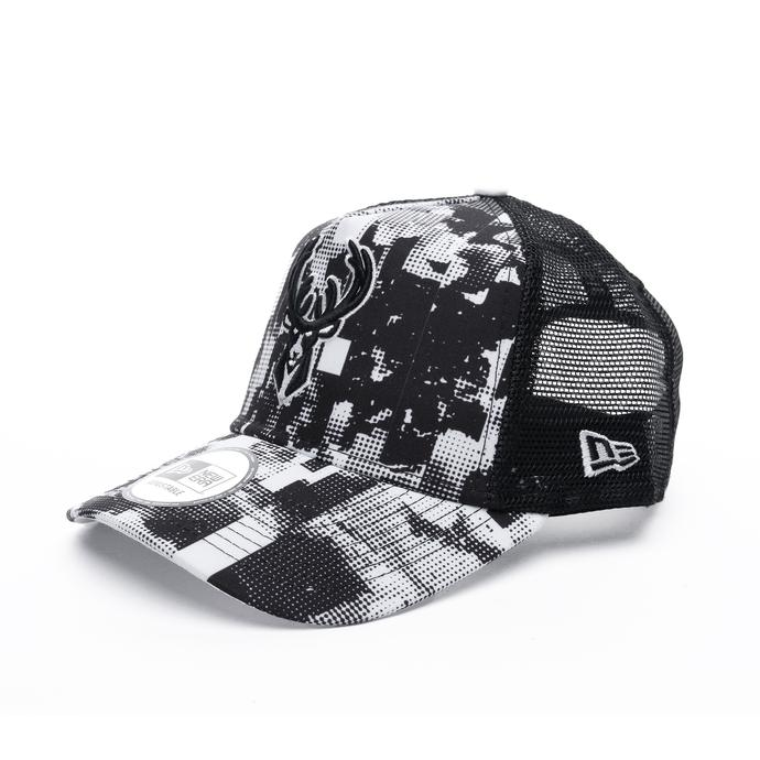 New Era Nba Error Print Af Trucker Milwaukee Bucks Unisex Siyah Şapka