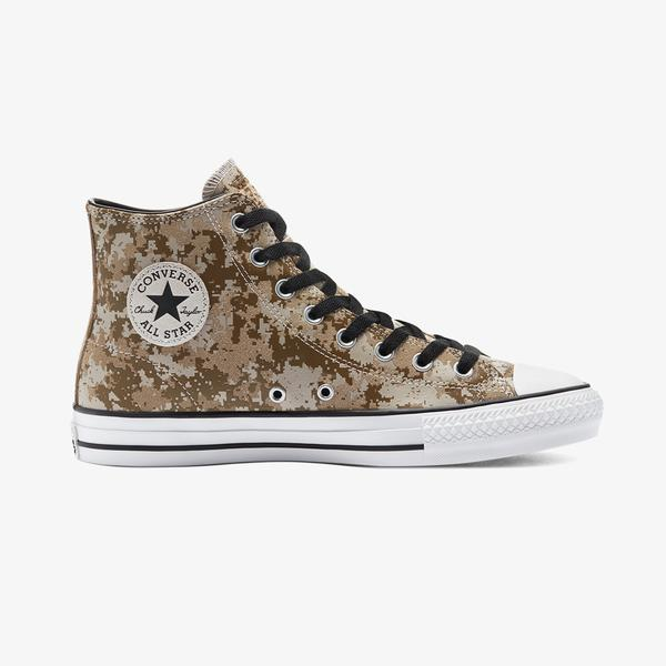 Converse Cons Chuck Taylor All Star Pro Digital Camo Hi Erkek Kahverengi Sneaker