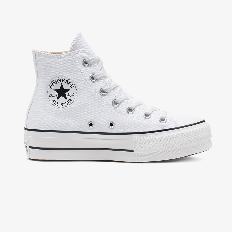 Converse Chuck Taylor All Star Lift Hi Kadın Beyaz Sneaker