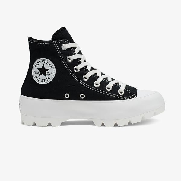 Converse Chuck Taylor All Star Lugged Hi Kadın Platform Siyah Sneaker