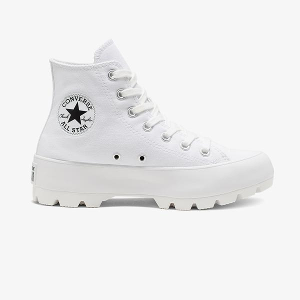 Converse Chuck Taylor All Star Lugged Hi Kadın Beyaz Sneaker