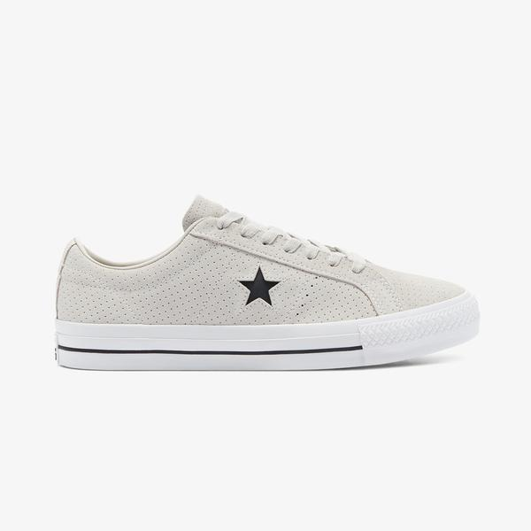 Converse One Star Pro Perf Suede Unisex Gri Sneaker
