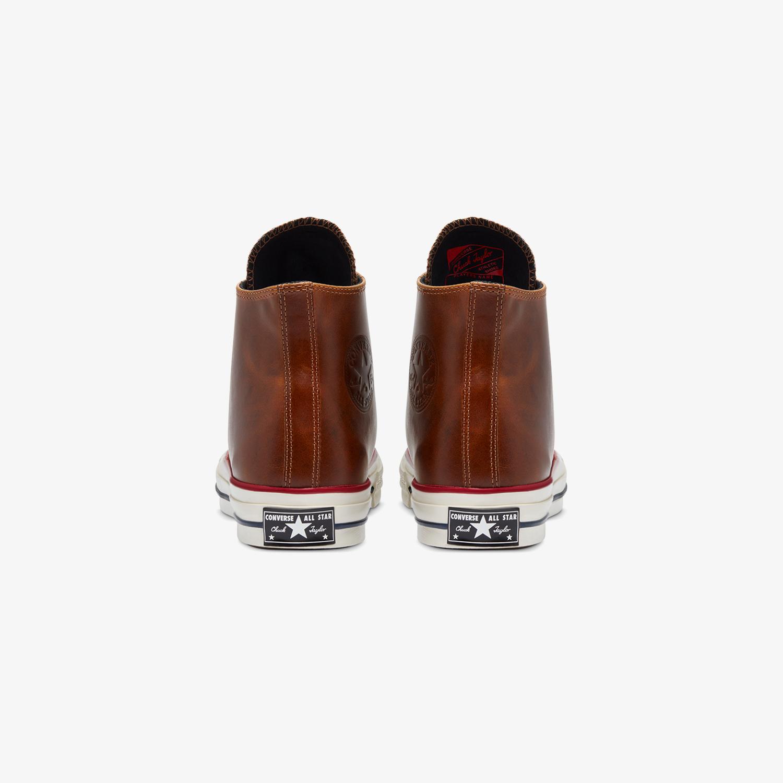 Converse Chuck 70 Premium Leather Hi Erkek Kahverengi Sneaker