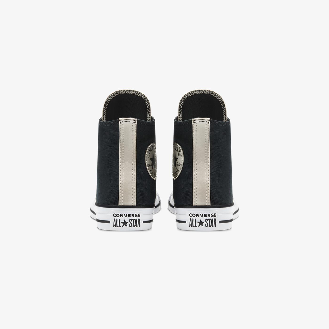 Converse Chuck Taylor All Star Mono Metal Hi Kadın Siyah Sneaker