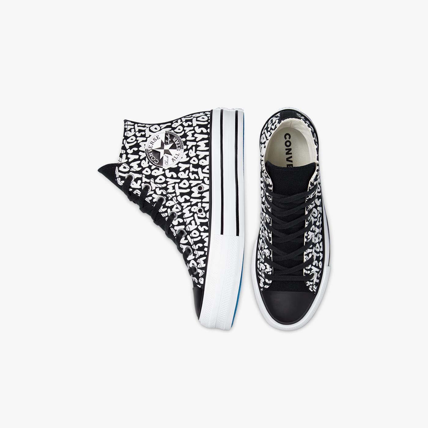 Converse Chuck Taylor All Star Platform My Story Hi Kadın Siyah Sneaker