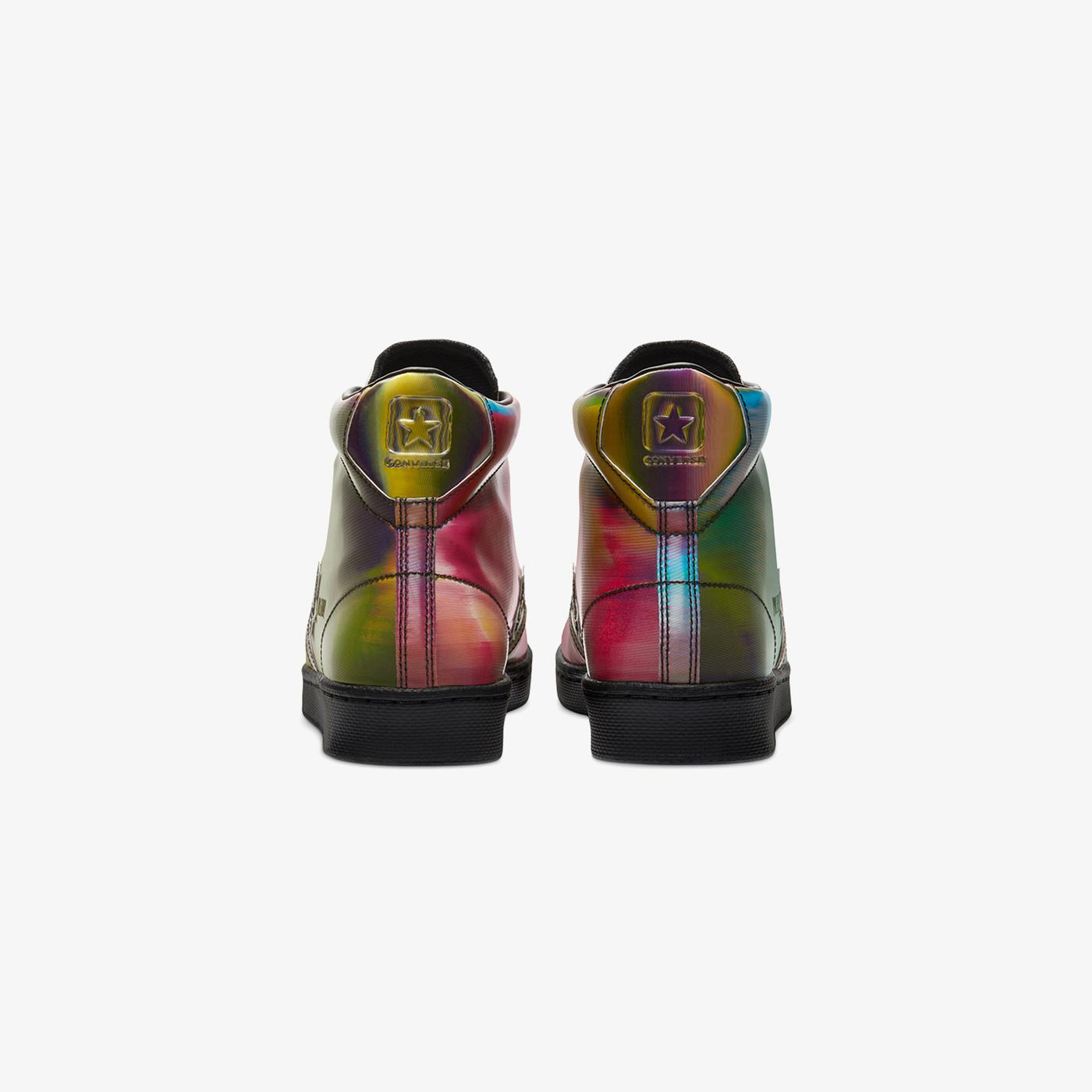 Converse Pro Leather Iridescent Hi Erkek Siyah Sneaker