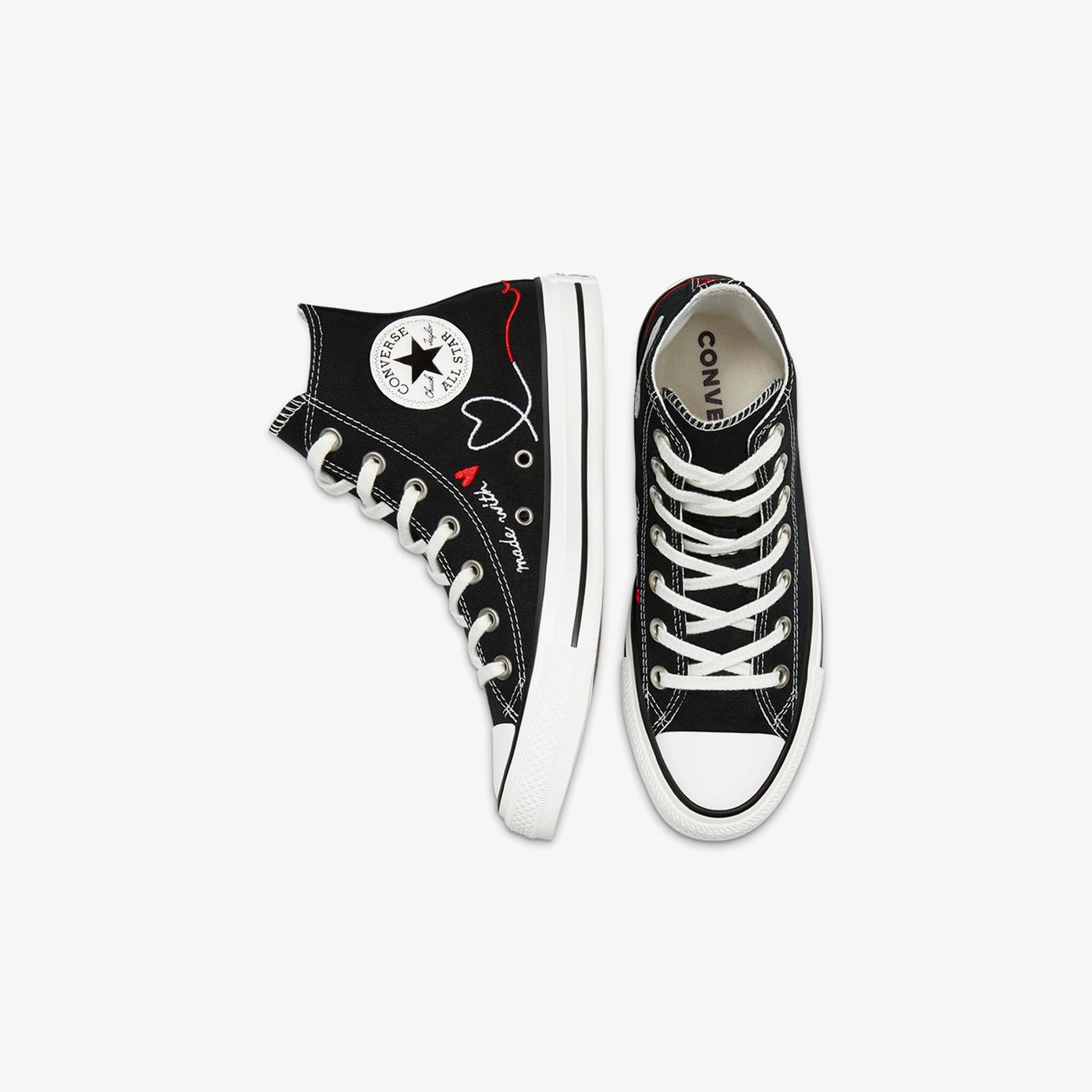 Converse Valentine's Day Chuck Taylor All Star Hi Unisex Siyah Sneaker