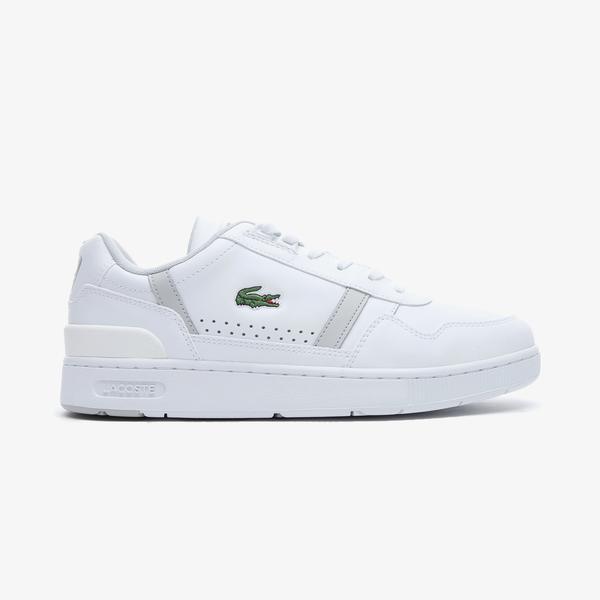 Lacoste T-Clip 0721 2 Sma Erkek Beyaz - Gri Spor Ayakkabı