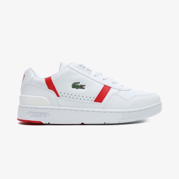 Lacoste T-Clip 0721 2 Sma Erkek Beyaz - Kırmızı Spor Ayakkabı