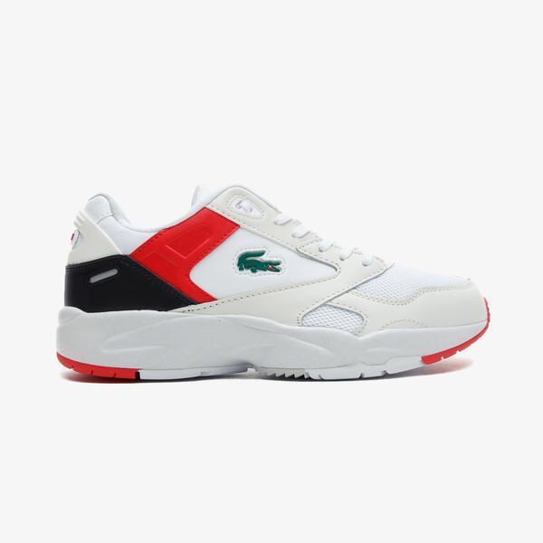 Lacoste Storm 96 Lo 0721 1 Sma Erkek Beyaz - Kırmızı Spor Ayakkabı