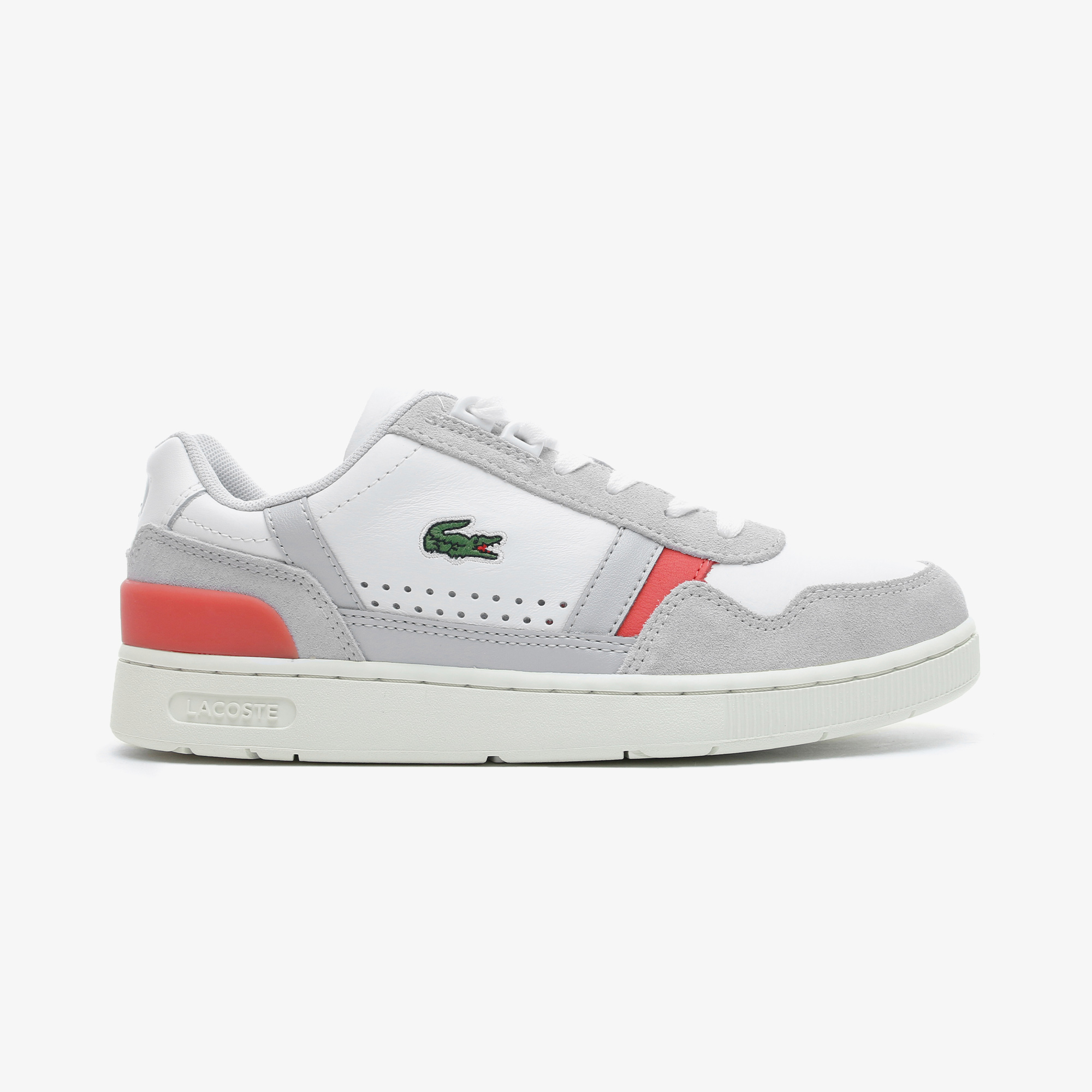 Lacoste T-Clip 0721 1 Sfa Kadın Beyaz - Pembe Spor Ayakkabı