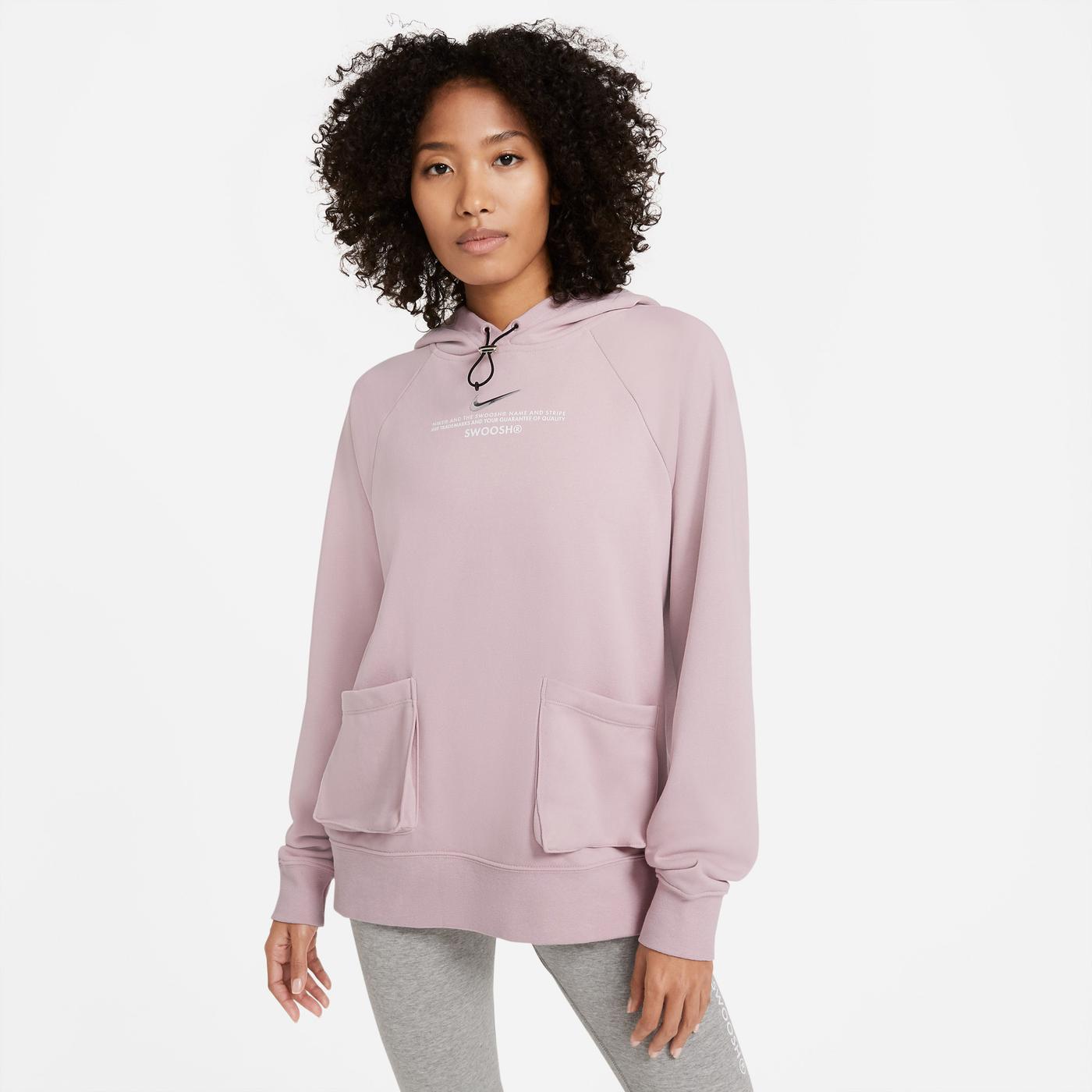 Nike Swoosh Kadın Pembe Sweatshirt