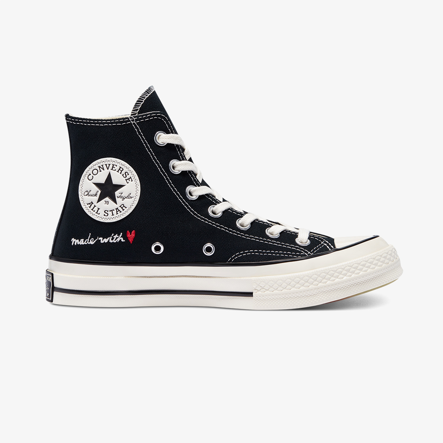 Converse Valentine's Day Chuck 70 Hi Unisex Siyah Sneaker