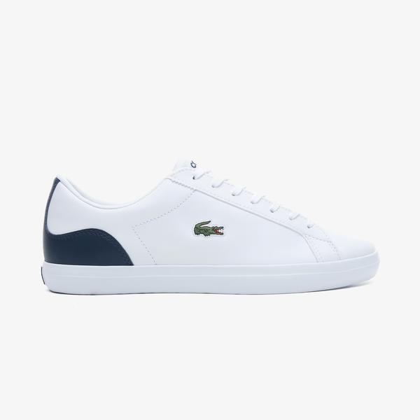 Lacoste Lerond Bl21 1 Cma Erkek Beyaz - Lacivert Spor Ayakkabı