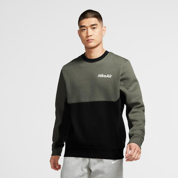 Nike Air Crew Fleece Erkek Yeşil-Siyah Sweatshirt