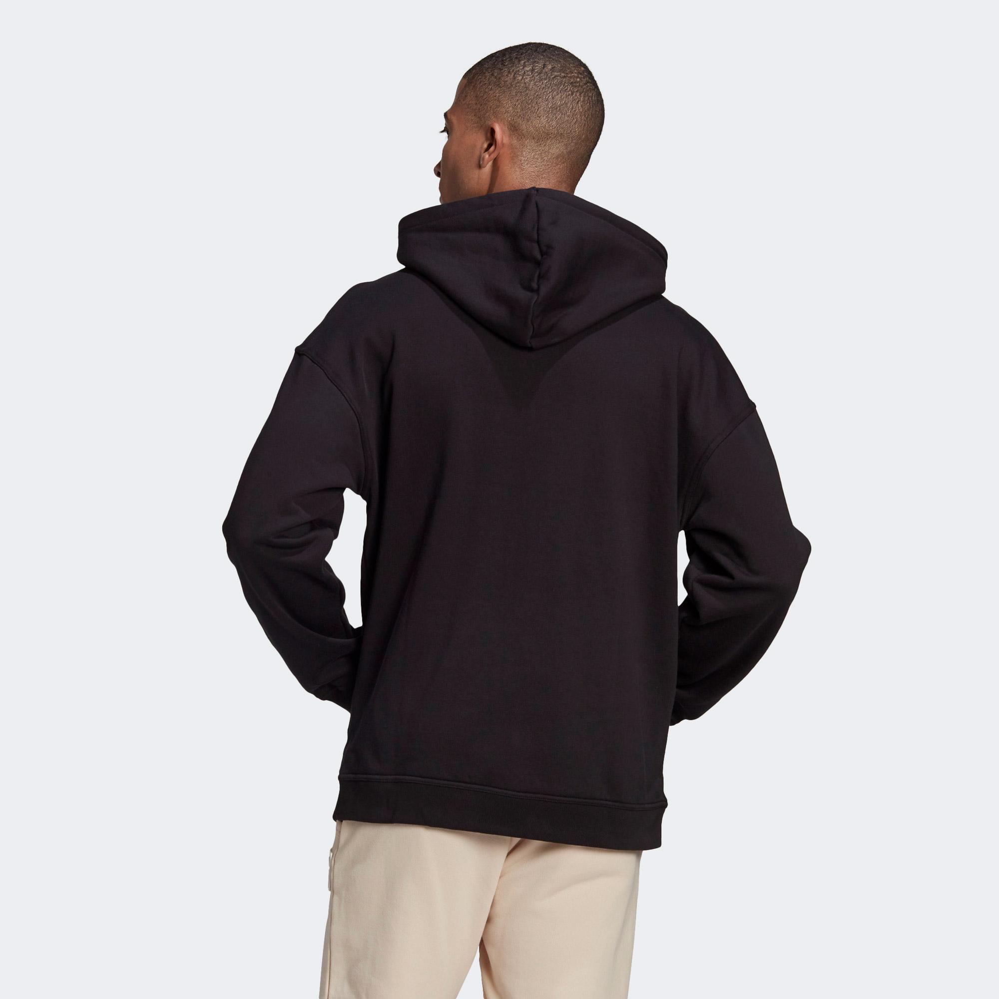 adidas R.Y.V. Silicone Double Linear Badge Erkek Siyah Sweatshirt