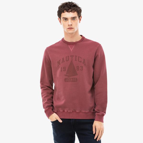 Nautica Erkek Bordo Sweatshirt