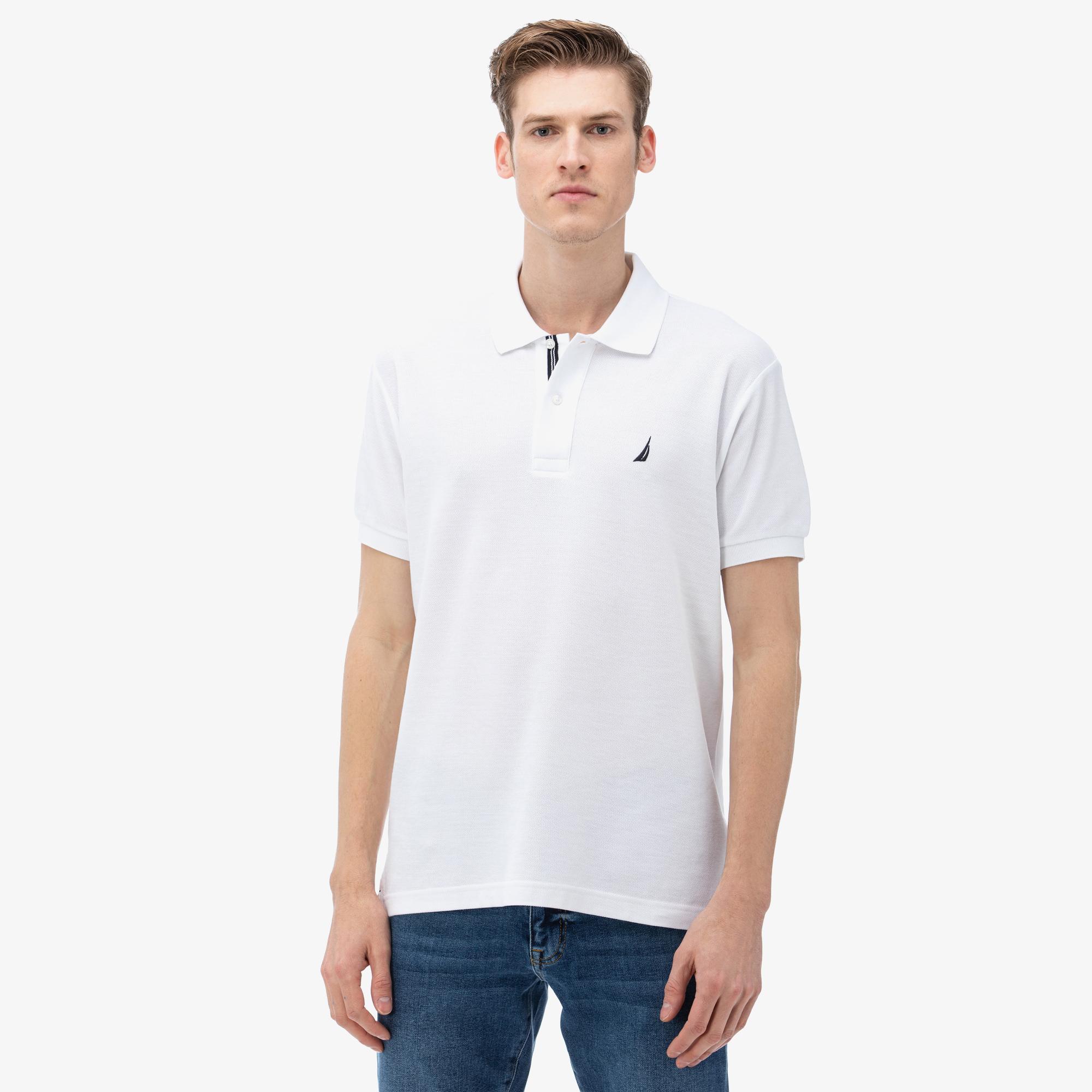 Nautica Erkek Classic Fit Beyaz Polo