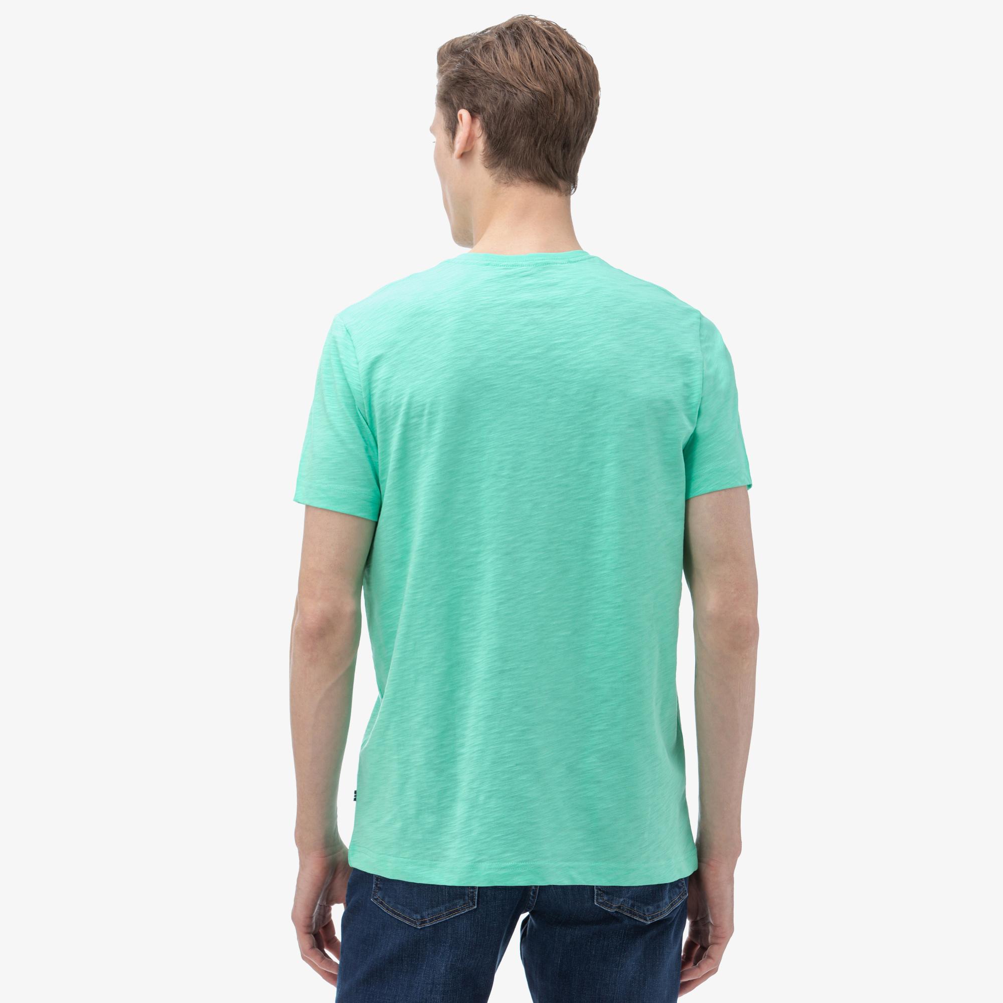 Nautica Erkek Yeşil V-Yaka T-Shirt