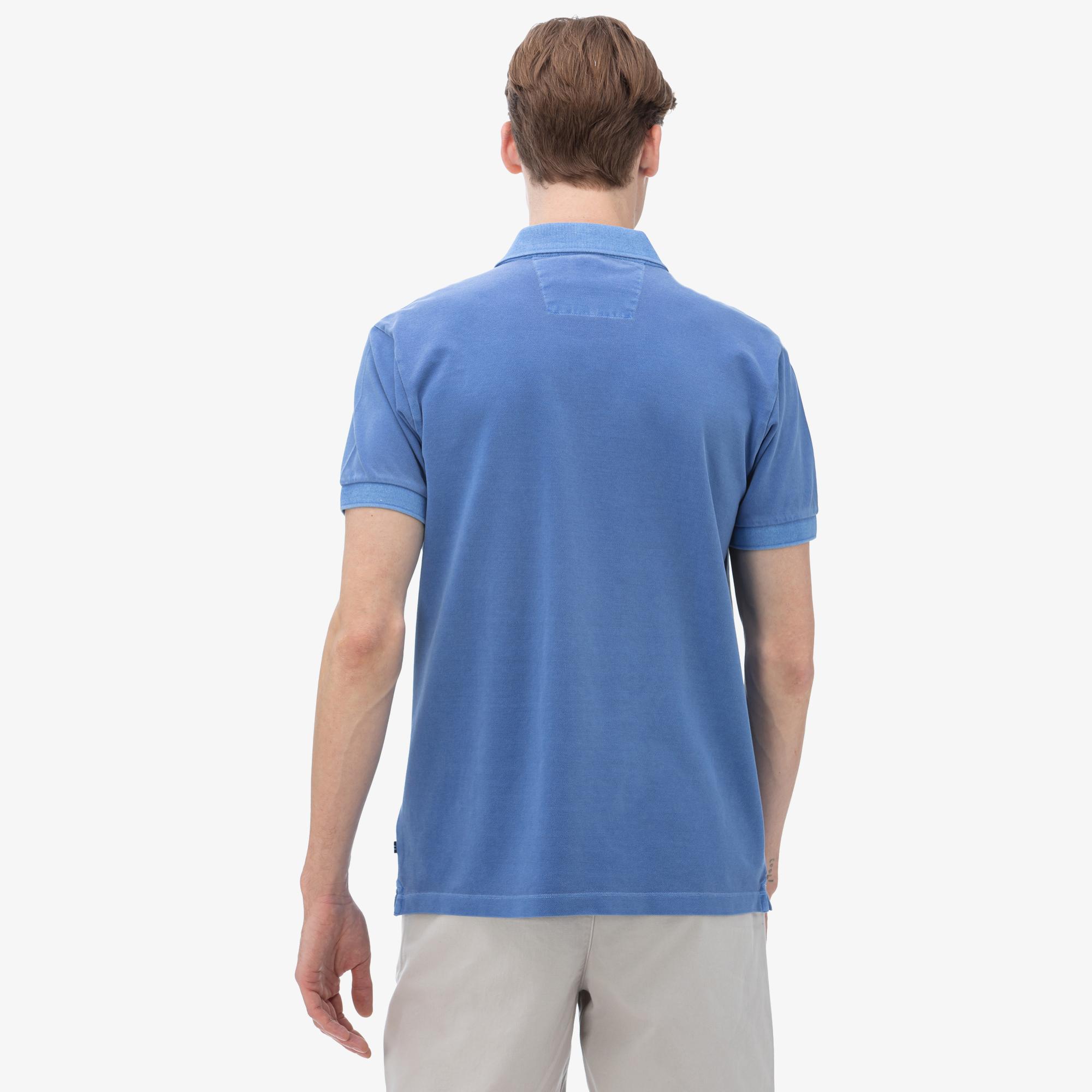 Nautica Erkek Classic Fit Mavi Polo