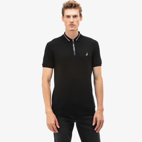 Nautica Erkek Siyah Slim Fit Polo
