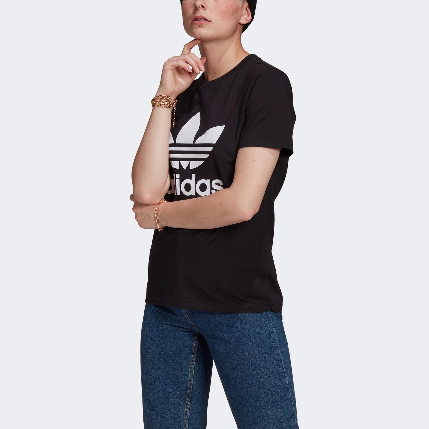 adidas Trefoil Kadın Siyah T-Shirt