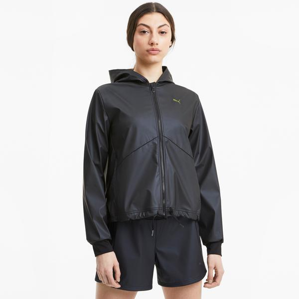 Puma Train Warm Up Shimmer Kadın Siyah Ceket