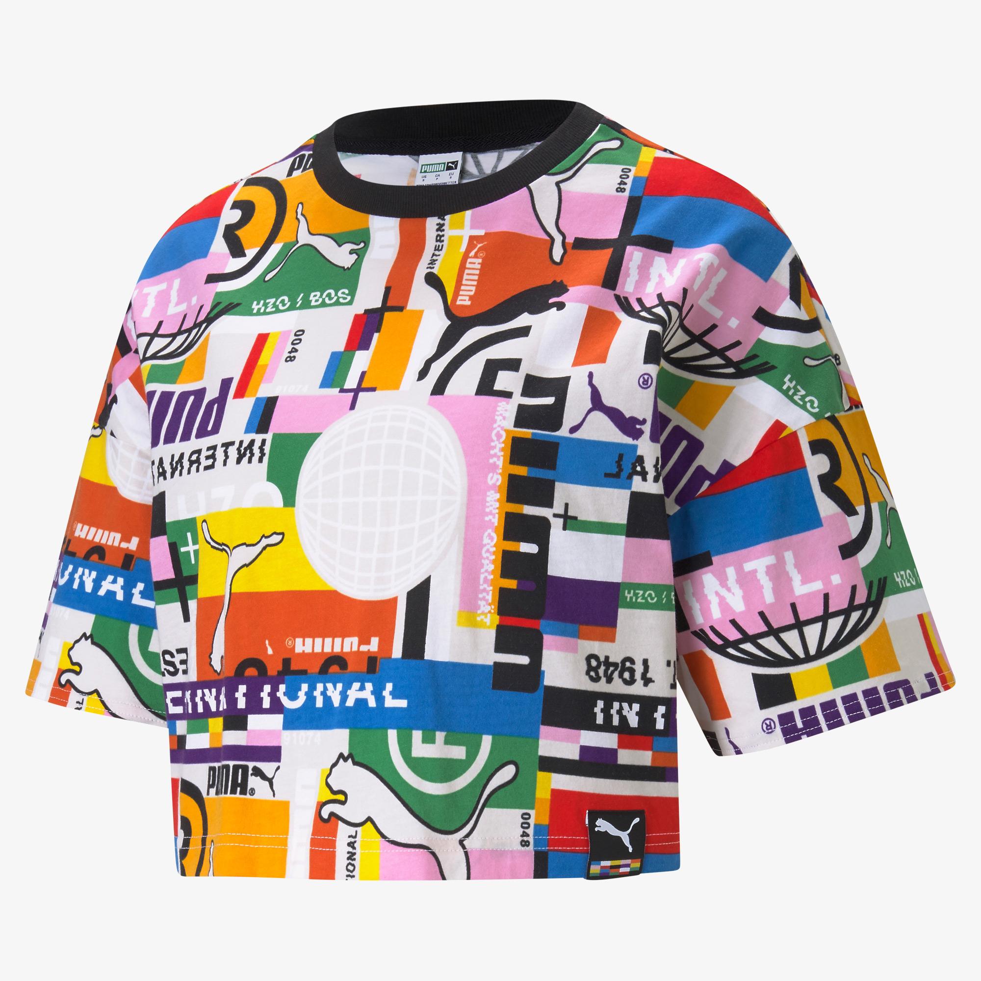 Puma International Printed Kadın Renkli T-Shirt