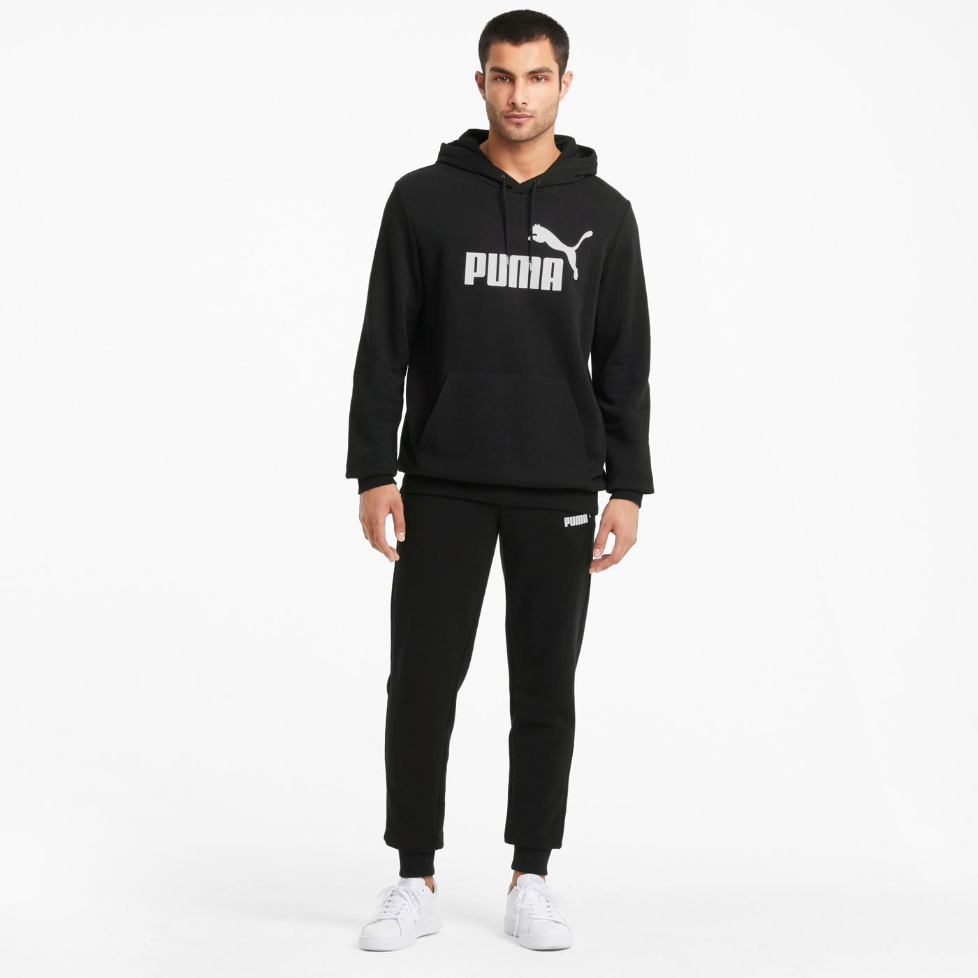 Puma Ess Big Logo Erkek Siyah Sweatshirt
