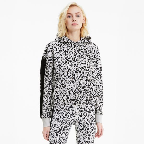 Puma Classics Cropped Kadın Gri Sweatshirt