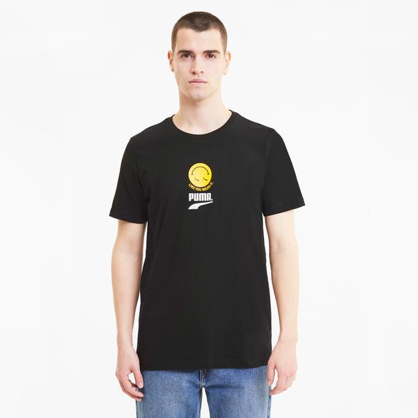 Puma Club Graphic Erkek Siyah T-Shirt