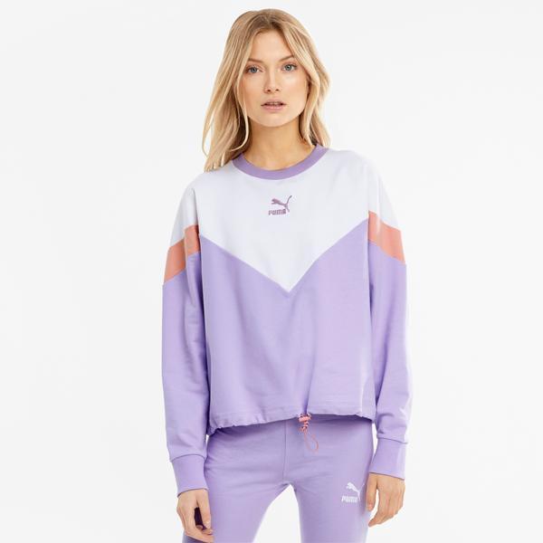 Puma Iconic Mcs Kadın Mor Sweatshirt