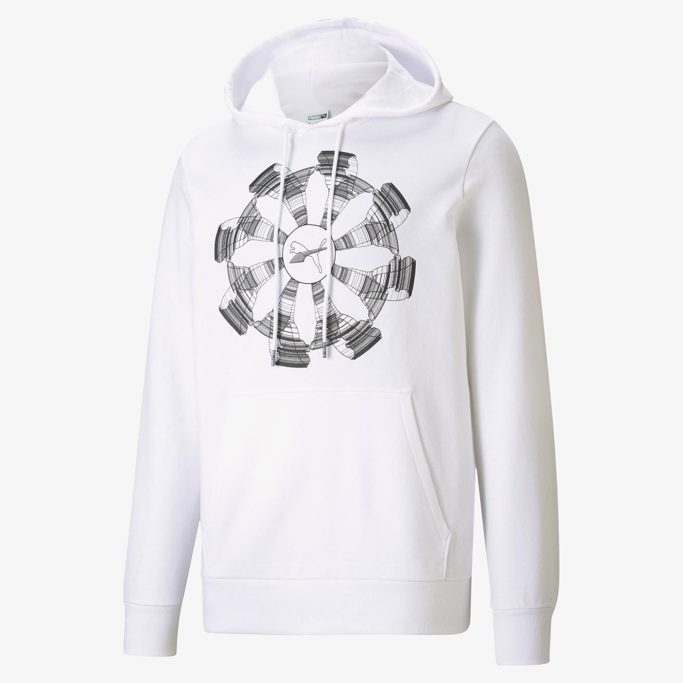 Puma Avenir Erkek Beyaz Sweatshirt