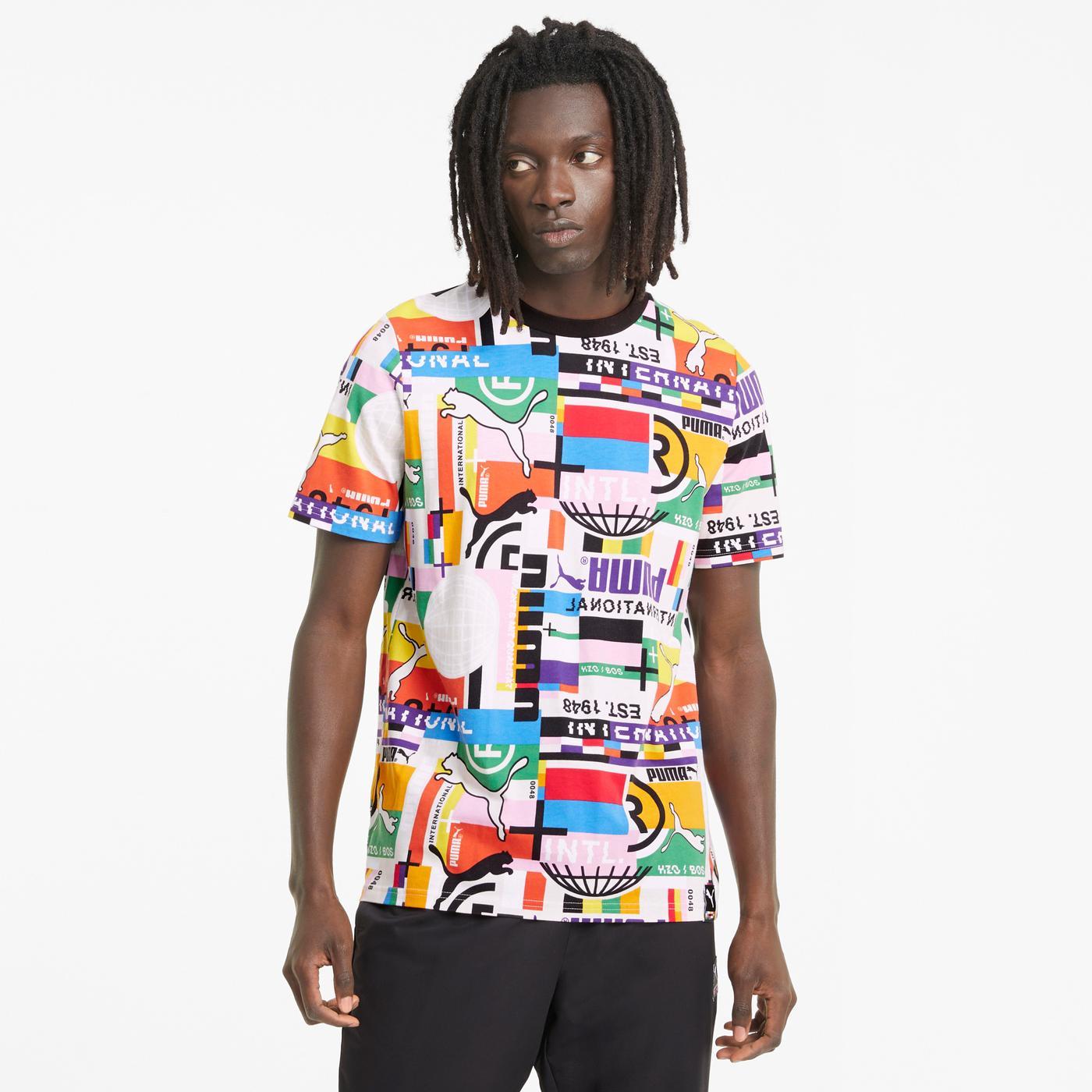 Puma International Erkek Renkli T-Shirt