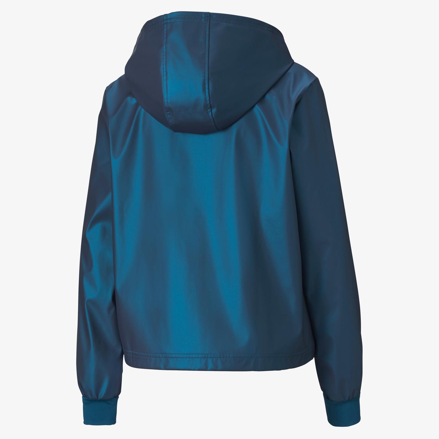 Puma Train Warm Up Shimmer Kadın Mavi Ceket