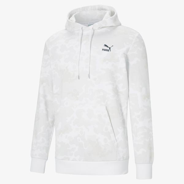 Puma Classics Graphics Erkek Beyaz Sweatshirt