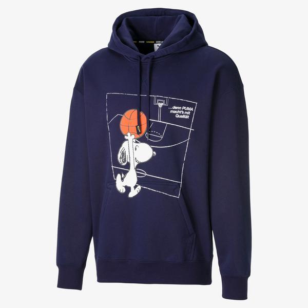 Puma X Peanuts Erkek Lacivert Sweatshirt
