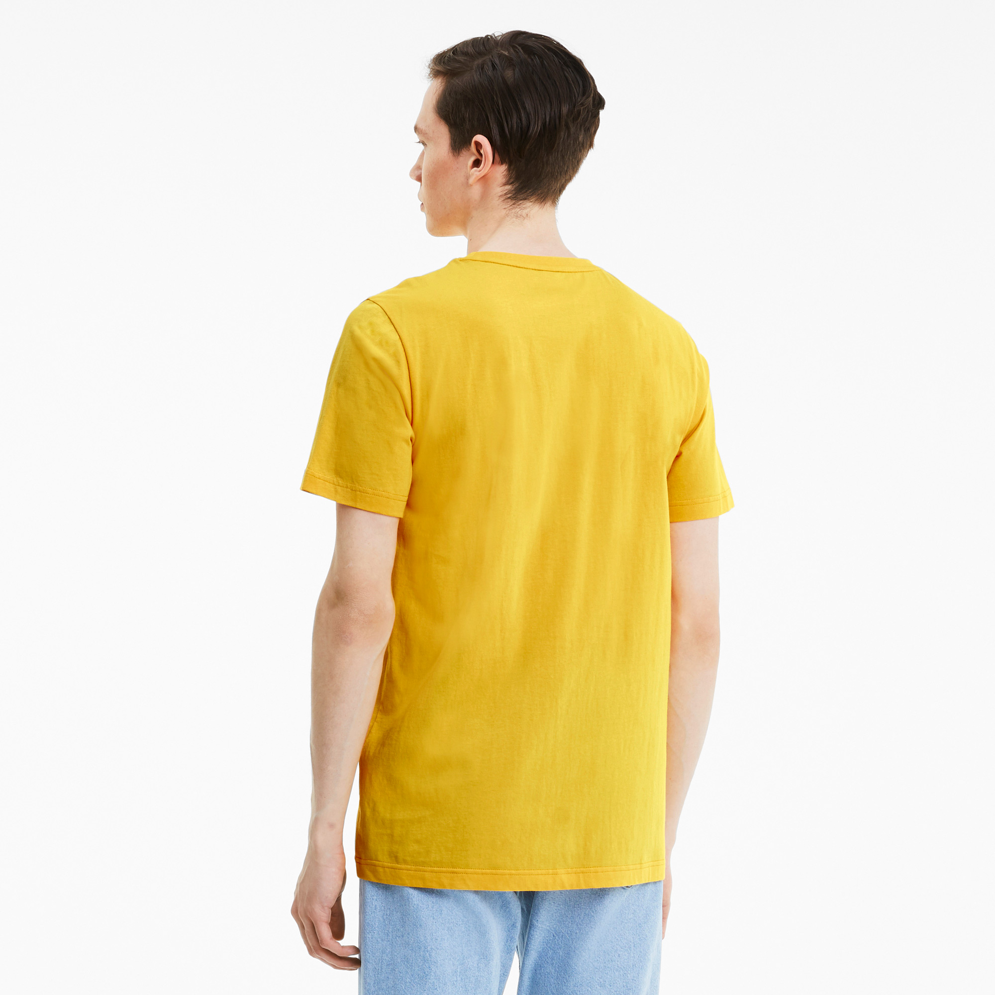 Puma Club Graphic Erkek Sarı T-Shirt