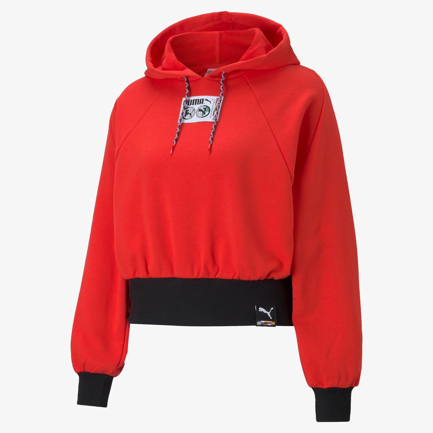 Puma International Kadın Kırmızı Sweatshirt